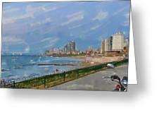 Tel Aviv Beachline Greeting Card