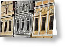 Telc Facade #2 - Czech Republic Greeting Card