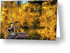 Telluride Spirituality - Colorado - Autumn Aspens Greeting Card