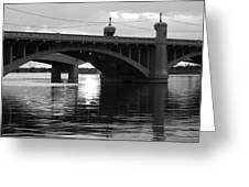 Tempe Town Lake Bridge Black And White Greeting Card