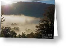 Temperature Inversion Traps Mist Over Ambleside Greeting Card