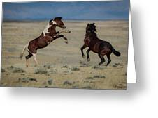 Tempers Flaring Greeting Card