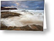 Tempestuous Sea Greeting Card