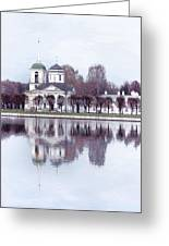Temple And Bell Tower II Greeting Card