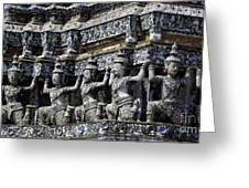 Temple Detail In Bangkok Thialand Greeting Card