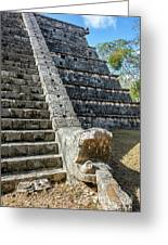 Temple In Chichen Itza Greeting Card