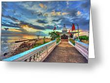 Temple In The Sea Greeting Card