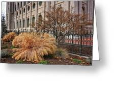 Temple Landscaping Greeting Card