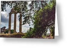 Temple Of Castor And Pollux Greeting Card