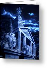Temple Of Hercules In Kassel Greeting Card