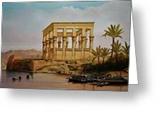 Temple Of Isis On The Nile River Greeting Card