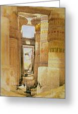 Temple Of Karnak  2 Greeting Card