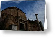 Temple Of Romulus Greeting Card