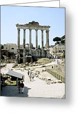 Temple Of Saturn Roman Forum Rome Italy Greeting Card
