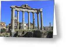 Temple Of Saturn Greeting Card