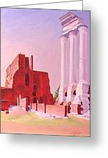 Temple Of The Castors In The Roman Forum Greeting Card