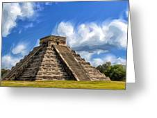 Temple Of The Feathered Serpent Greeting Card