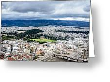Temple Of Zeus - View From The Acropolis Greeting Card