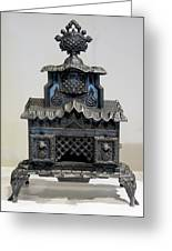 Temple Parlor Stove Greeting Card