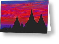 Temple Silhouettes Greeting Card