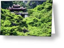 Temple Tam Coc Ninh Binh  Greeting Card