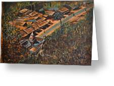 Temple Town Greeting Card