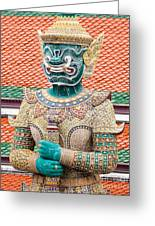 Temple Warrior Greeting Card