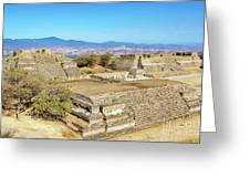 Temples In Monte Alban Greeting Card