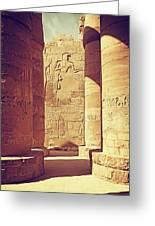 Temples Of Karnak  Greeting Card