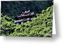 Temples Of Tam Coc Vietnam  Greeting Card