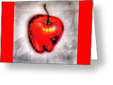 Temptation Apple Greeting Card