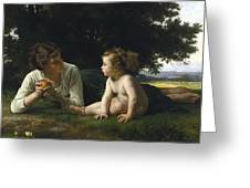 Temptation By William-adolphe Bouguereau Greeting Card