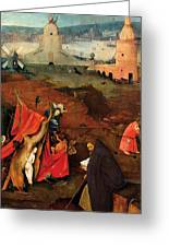 Temptation Of Saint Anthony, Right Wing Greeting Card