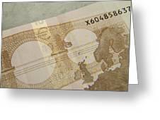 Ten Euro Note Greeting Card