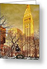 Ten Past Four At Madison Square Park Greeting Card