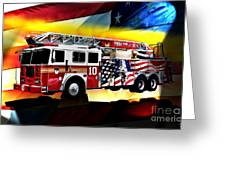 Ten Truck Fdny Greeting Card