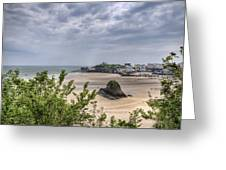 Tenby Pembrokeshire Low Tide Greeting Card
