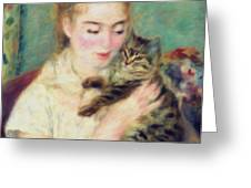 Tenderness Of A Woman Greeting Card