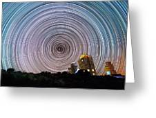 Tenerife Star Trails Greeting Card