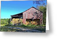 Tennessee Hay Barn Greeting Card