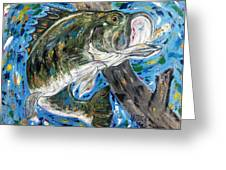 Tennessee River Largemouth Bass Greeting Card