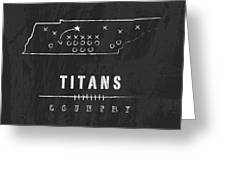 Tennessee Titans Art - Nfl Football Wall Print Greeting Card by Damon Gray