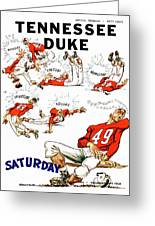 Tennessee Versus Duke 1955 Football Program Greeting Card