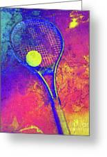 Tennis Art Version 1 Greeting Card