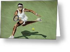 Tennis In The Sun Greeting Card by Paul Mitchell
