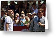 Tennis Legend Greeting Card