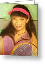 Tennis Player, 8x10, Pastel, '07 Greeting Card
