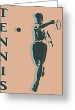 Tennis Player Pop Art Poster Greeting Card