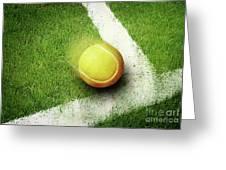 Tennis Point Greeting Card