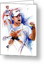 Tennis Snapshot Greeting Card by Ken Meyer jr